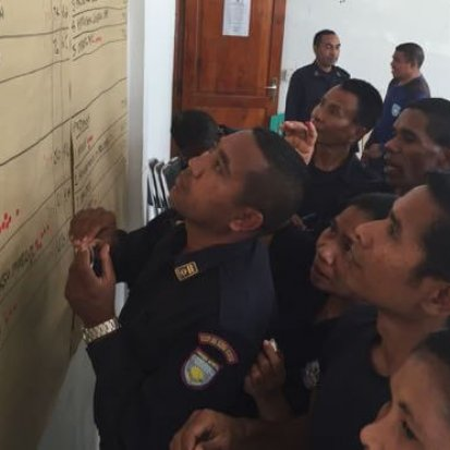 Police officers in Timor Leste attend a Sustineo training